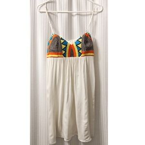 Aztec spaghetti strap babydoll stitch dress